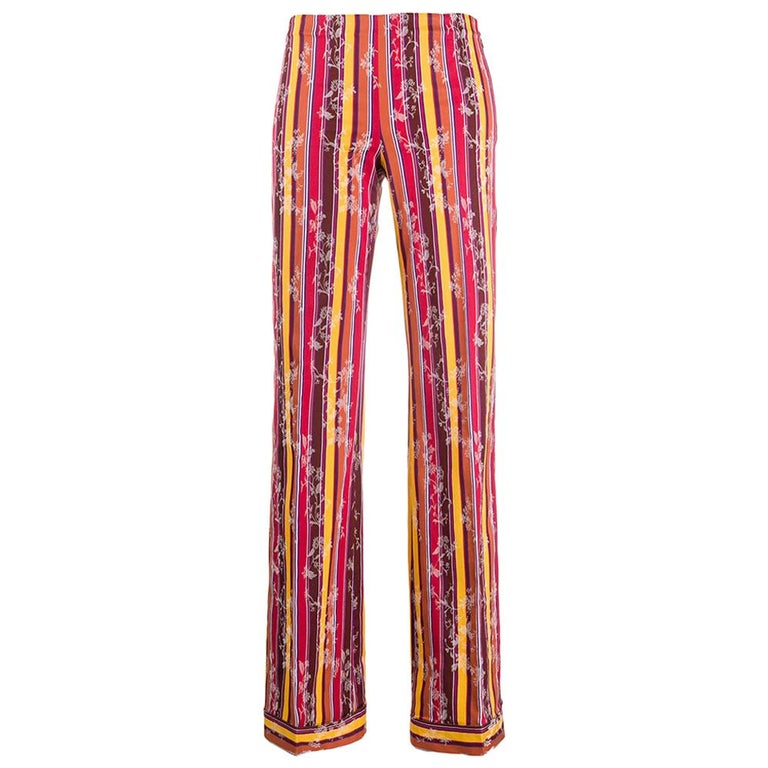 1990s Romeo Gigli Jacquard Trousers For Sale