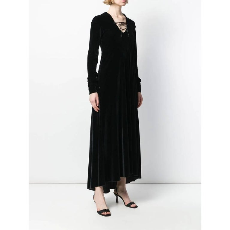 Black 1990s Romeo Gigli Long Dress For Sale