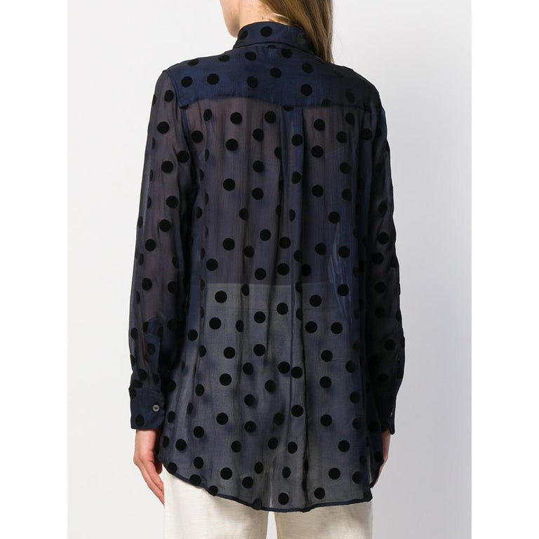 1990s Romeo Gigli Polka Dots Shirt In Excellent Condition For Sale In Lugo (RA), IT