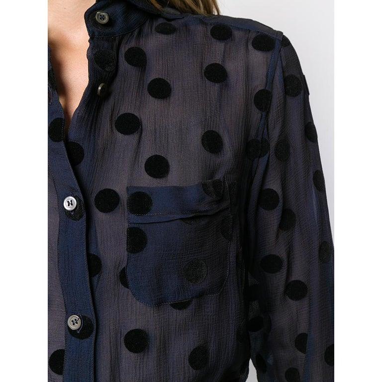 Women's 1990s Romeo Gigli Polka Dots Shirt For Sale