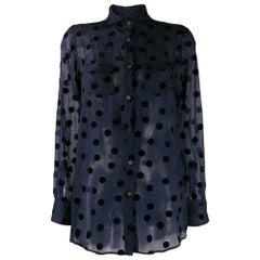 1990s Romeo Gigli Polka Dots Shirt