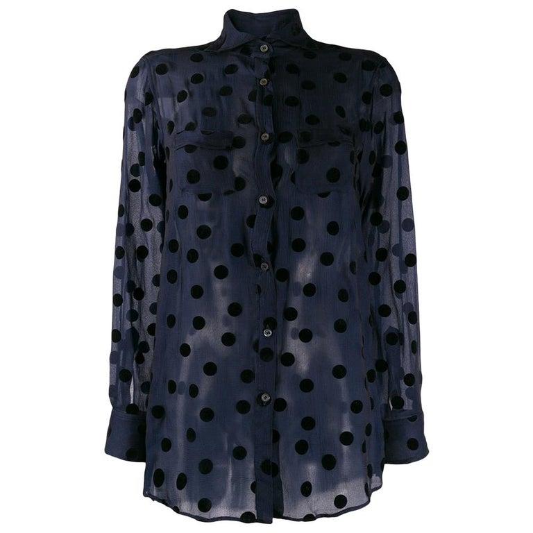 1990s Romeo Gigli Polka Dots Shirt For Sale