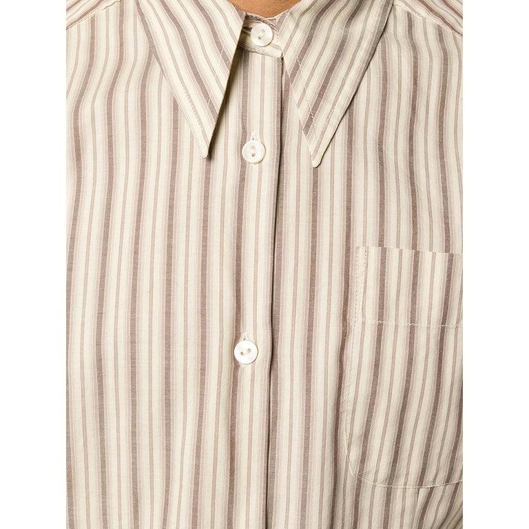 Women's 1990s Romeo Gigli Striped Shirt For Sale