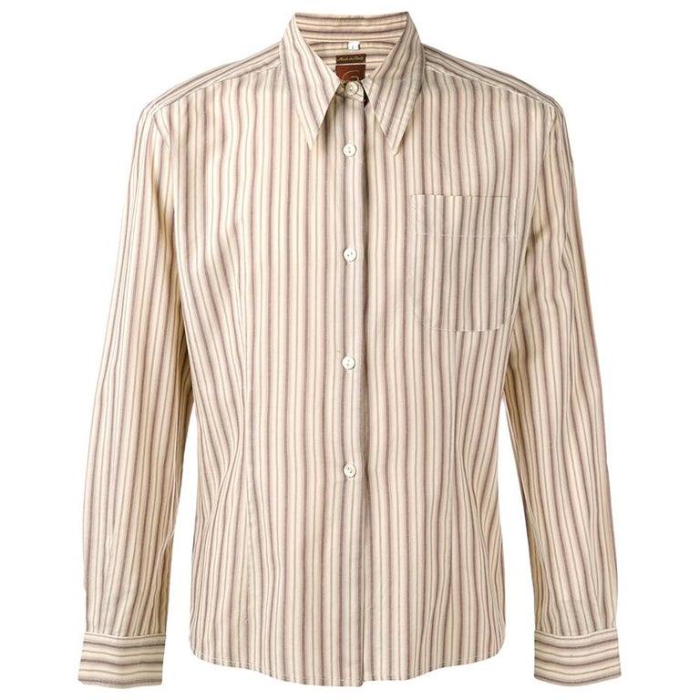 1990s Romeo Gigli Striped Shirt For Sale