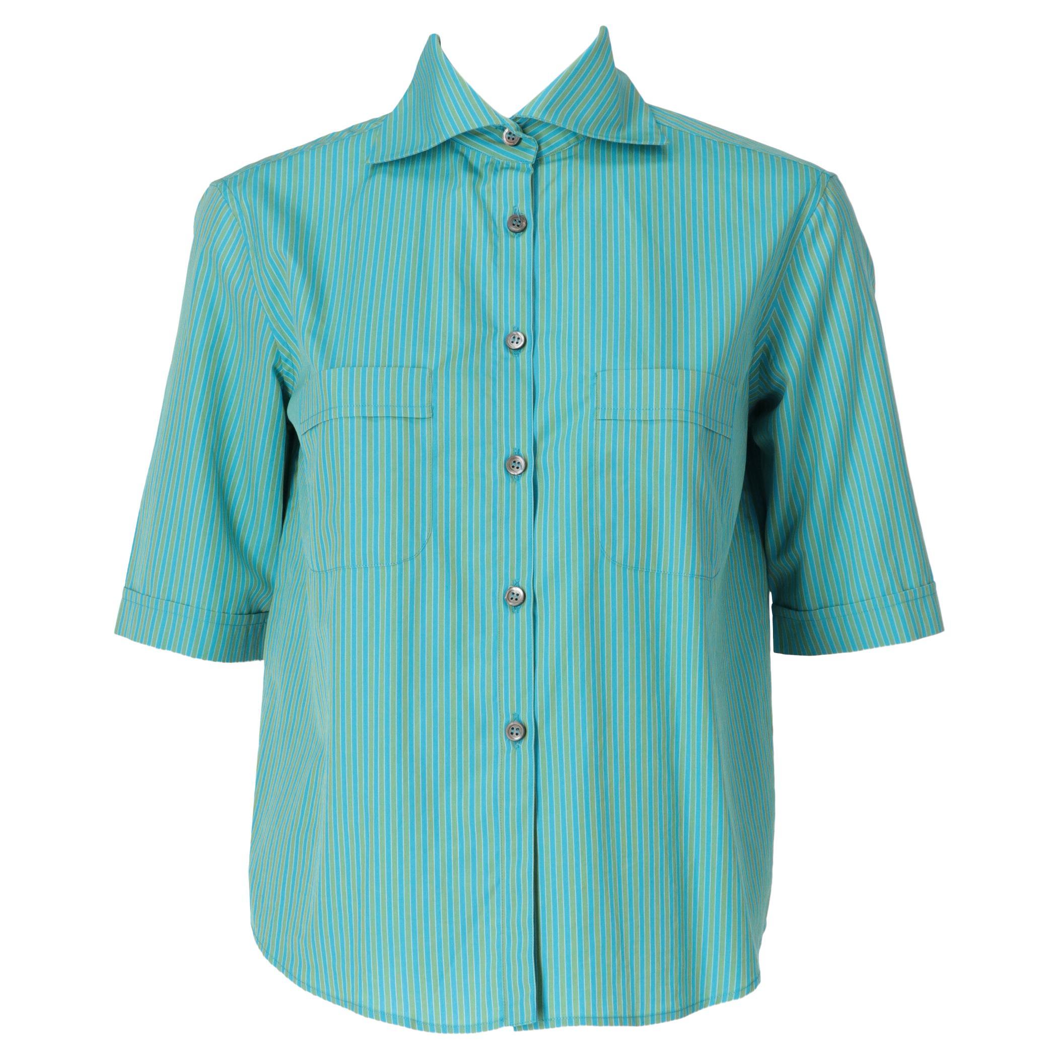 1990s Romeo Gigli Striped Shirt