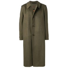 1990s Salko Green Herringbone Wool Loden Coat