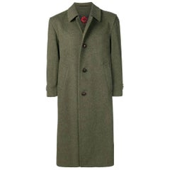 1990s Salko Green Wool Loden Coat