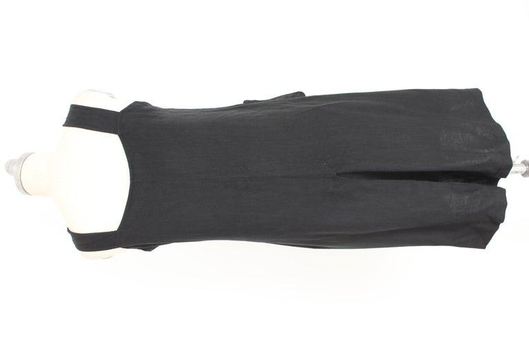 Salvatore Ferragamo Black Viscose Long Cocktail Suit Dress 1990s For Sale 3