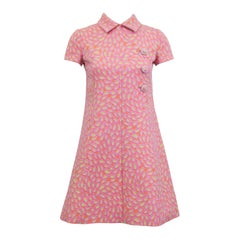 1960s Shannon Rogers Pink Brocade Dress