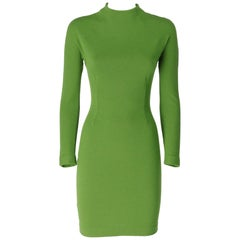 1990s Shylla Pea Green Dress