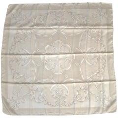 1990s Silk Escada Cream  Scarf Wrap, New, Never worn 90s