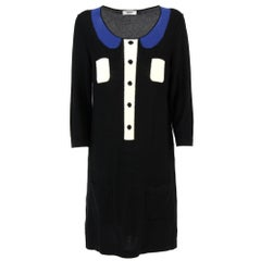 1990s Sonia Rykiel Black Cotton Knitted Dress
