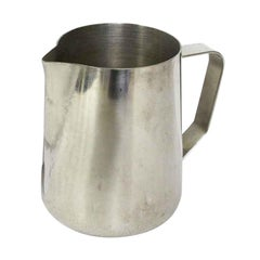 1990s Stainless Steel Milk Frothing Jug from The NYC Waldorf Astoria Hotel