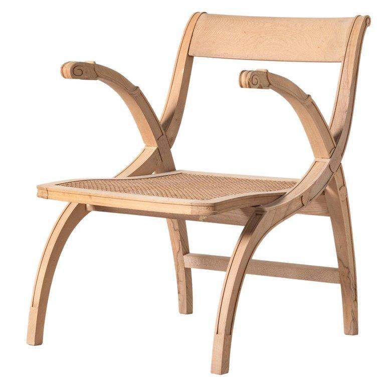 Italian 1990s Style Open Armchair For Sale