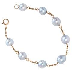 1990s Tahitian Pearl Charm Bracelet