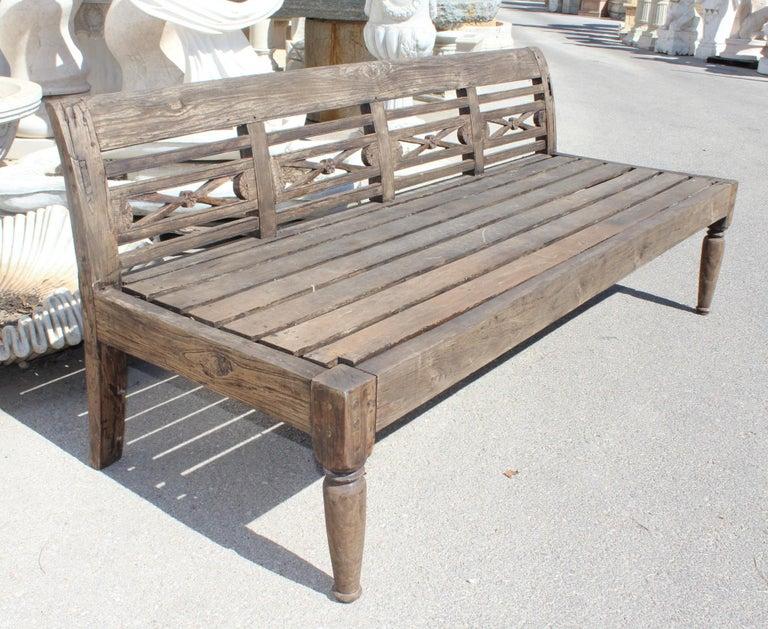 Spanish 1990s Teak Garden Bench For Sale