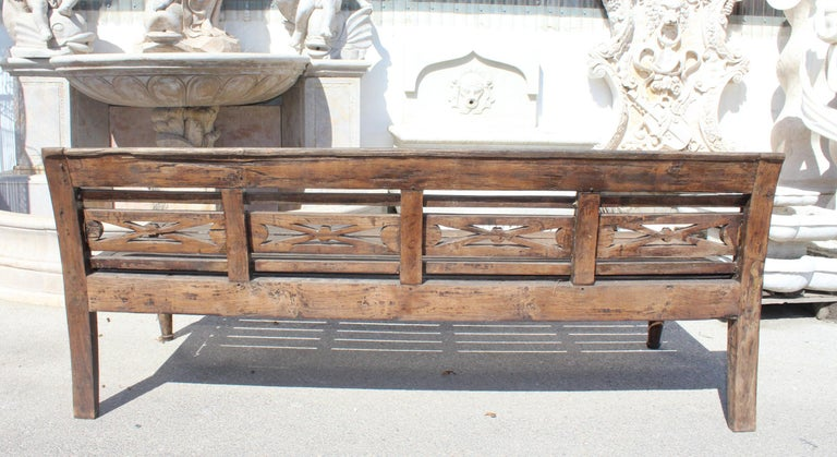 Late 20th Century 1990s Teak Garden Bench For Sale