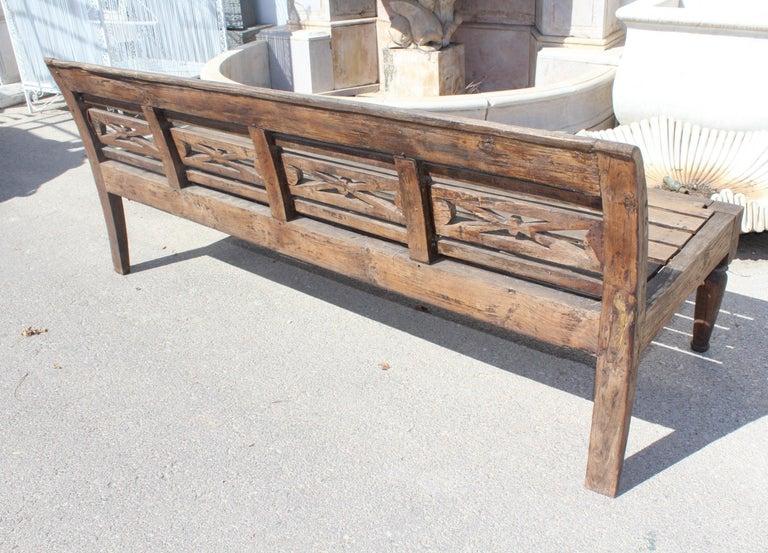 1990s Teak Garden Bench For Sale 1