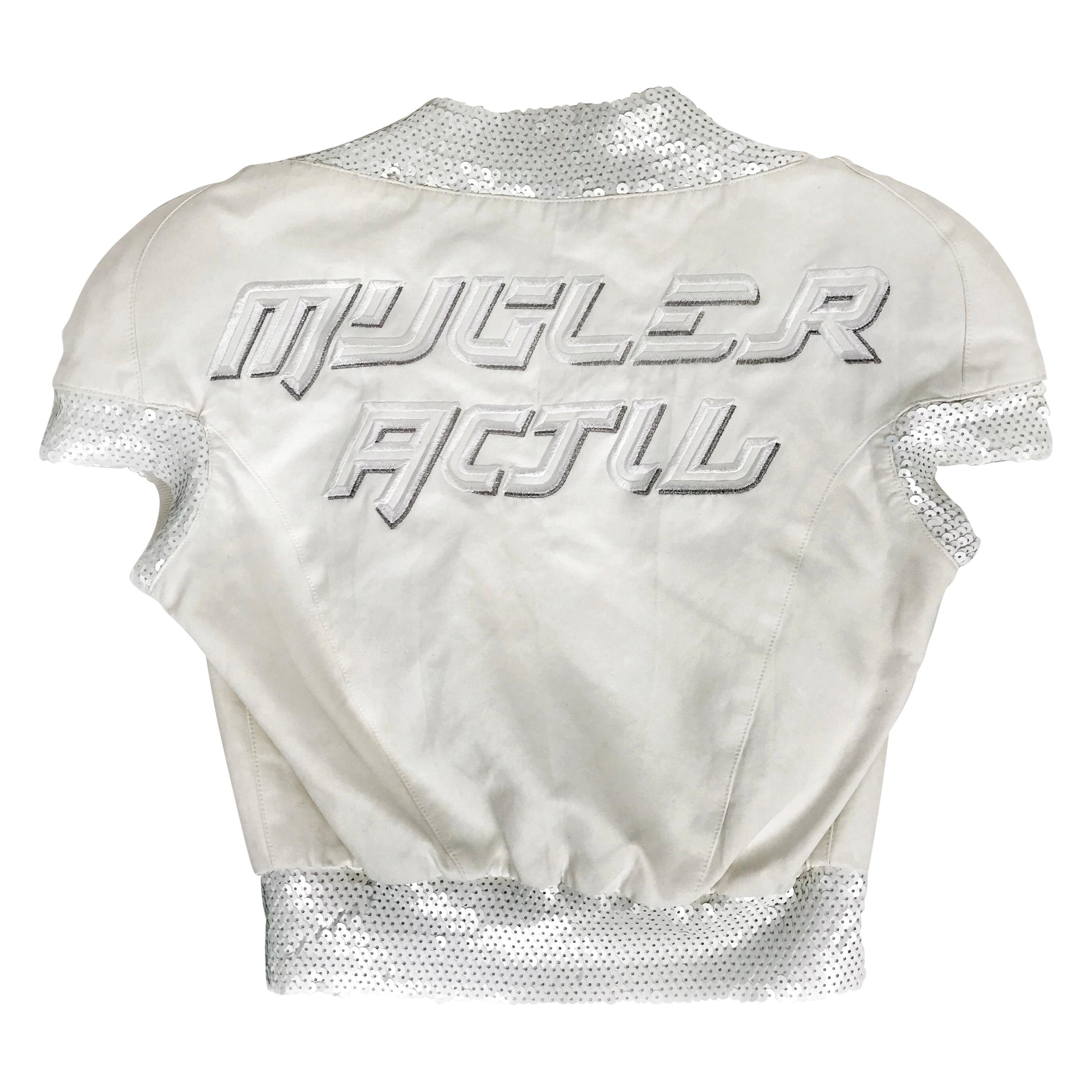 1990's Thierry Mugler Activ top Space Age Sequins Small