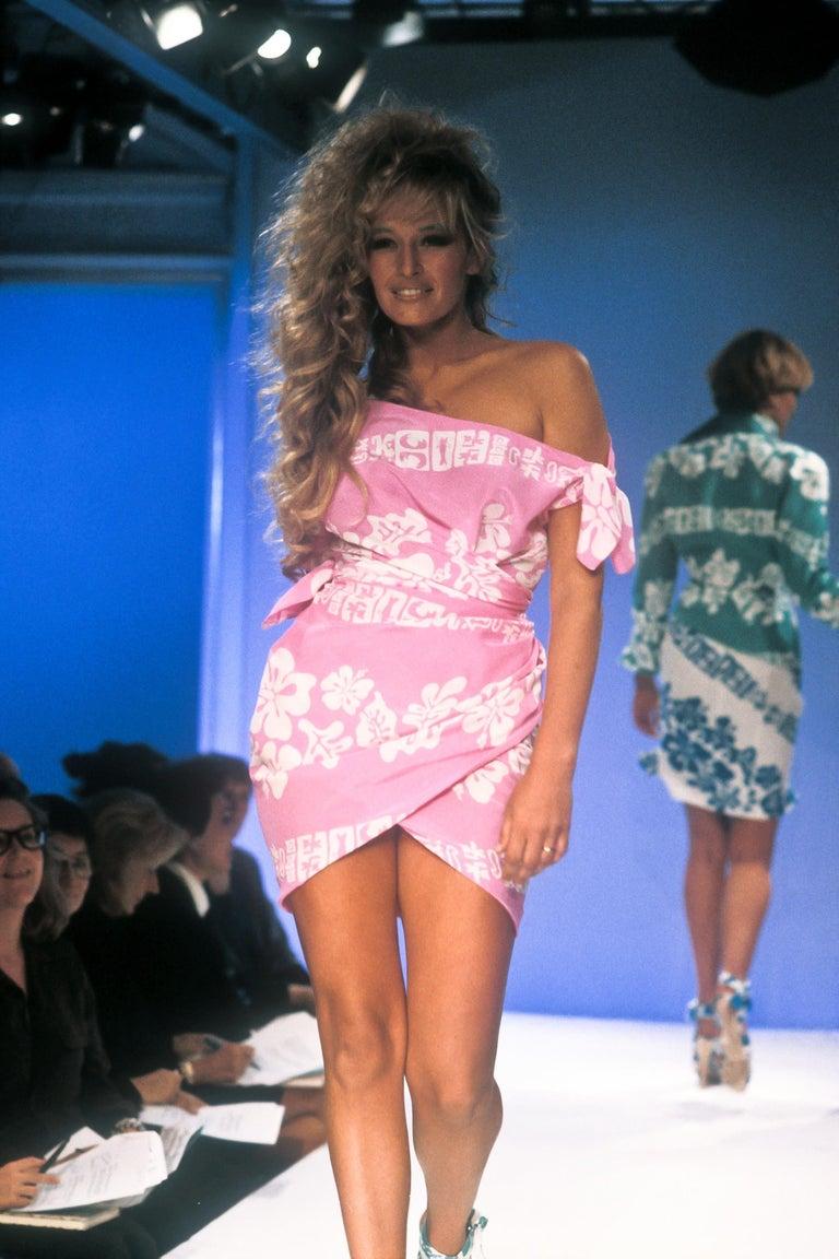1990's Thierry Mugler Hawaï Skirt Ensemble Small  For Sale 6