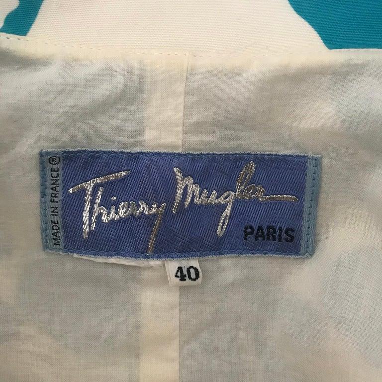 1990's Thierry Mugler Hawaï Skirt Ensemble Small  For Sale 7