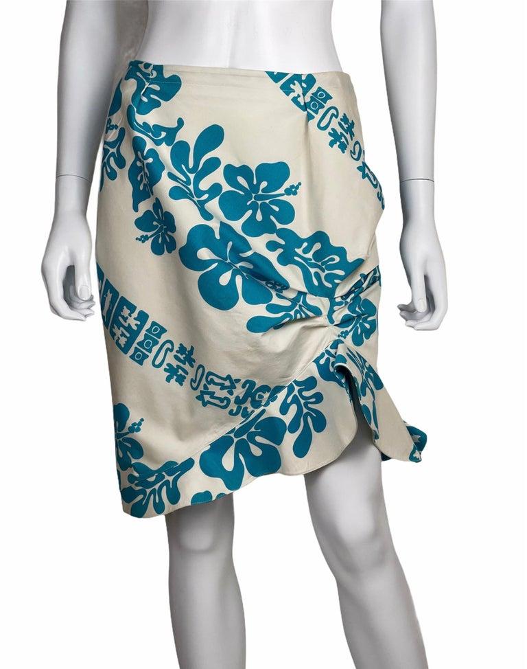 1990's Thierry Mugler Hawaï Skirt Ensemble Small  For Sale 8