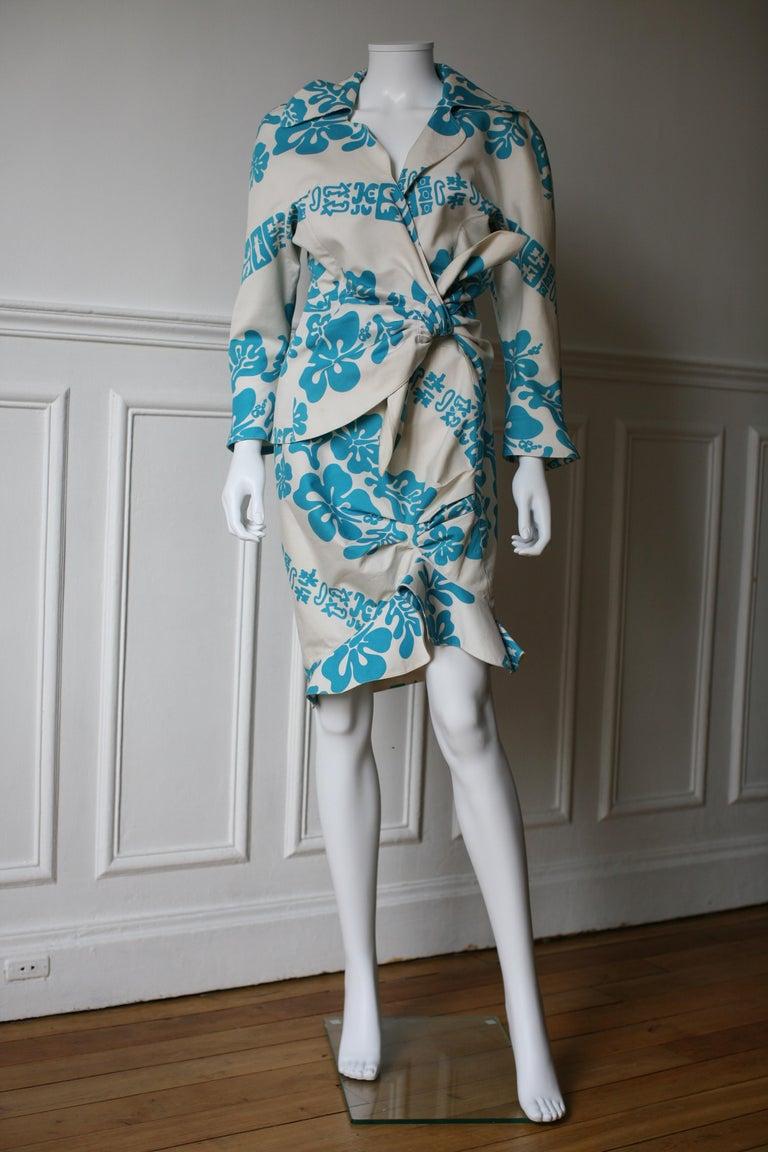 Women's 1990's Thierry Mugler Hawaï Skirt Ensemble Small  For Sale