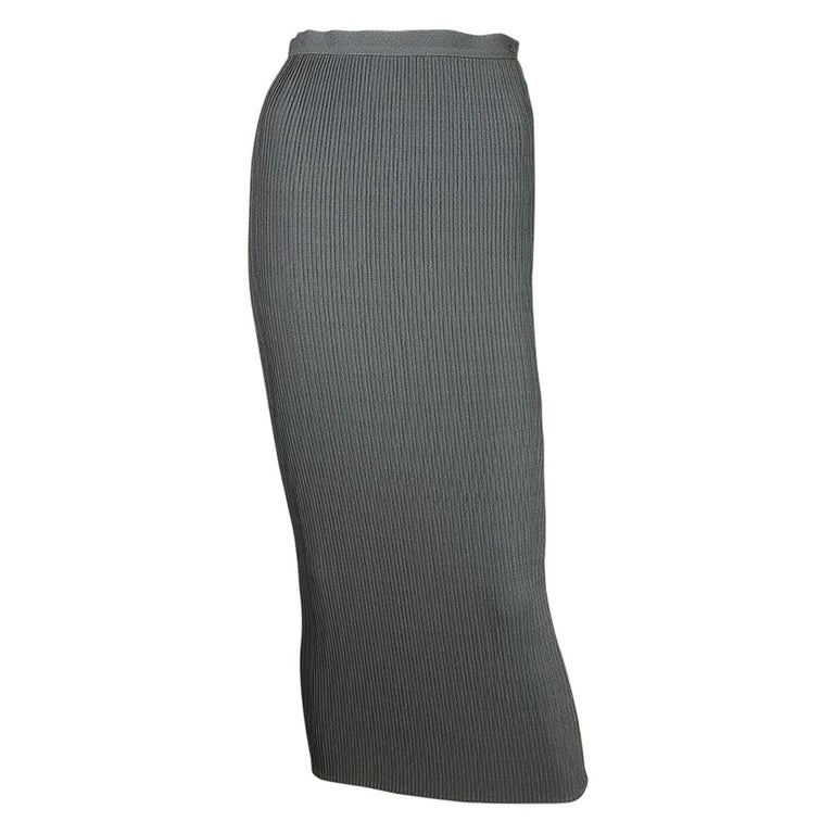 1990's Thierry Mugler Plissée Skirt Small For Sale