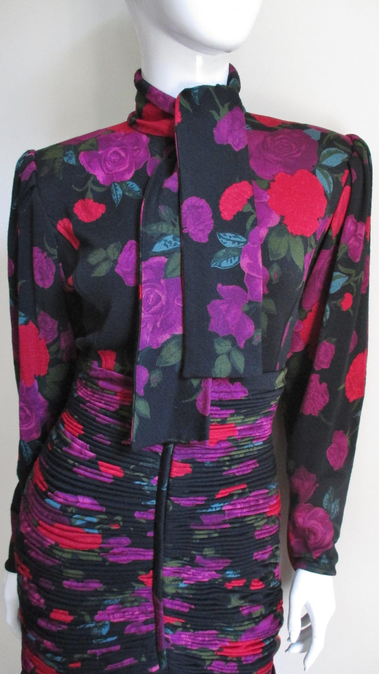Emanuel Ungaro Bodycon Dress with Ruching In Good Condition For Sale In New York, NY