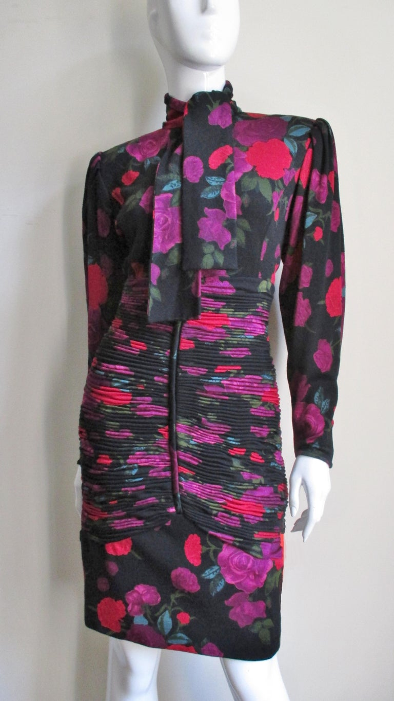 Emanuel Ungaro Bodycon Dress with Ruching For Sale 4
