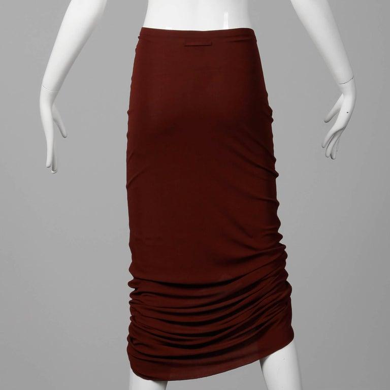 Women's 1990s Unworn with Tags Jean Paul Gaultier Femme Vintage Brown Avant Garde Skirt For Sale