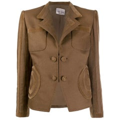 1990s Valentino Brown Wool Jacket