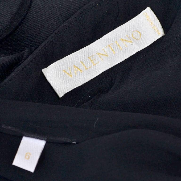Valentino Black Panther Burnout Silk Jacquard One Shoulder Dress, 1990s For Sale 7