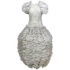 1990s Valentino White Wedding Dress