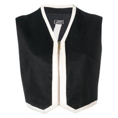 1990s Versace Black Crop Vest