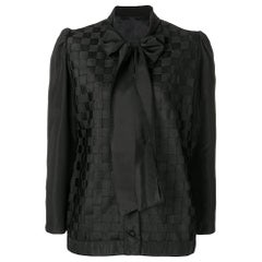 1990s Versace Bow Blouse