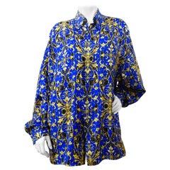 1990s Versace Classic V2 Baroque Print Silk Shirt