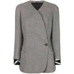 1990s Versace Gimgham Pattern Jacket