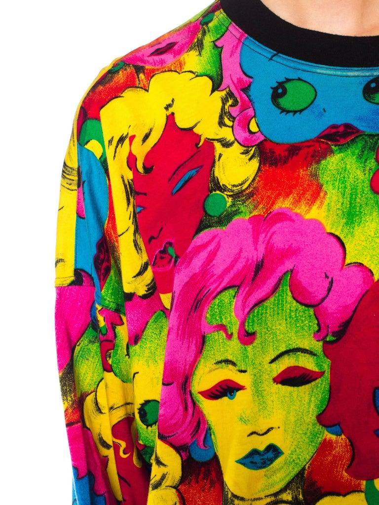 1990s Versace Pop Art Marilyn Betty Boop Print Shirt For 4