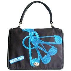 1990s Versace Versus Nylon top handle bag
