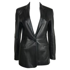 1990's Versus by Gianni Versace Leather Jacket Small