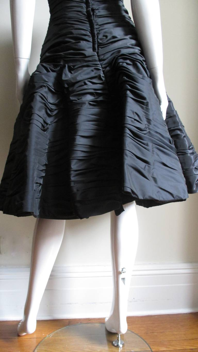 Victor Costa Ruched Bustier Dress 1980s For Sale 6