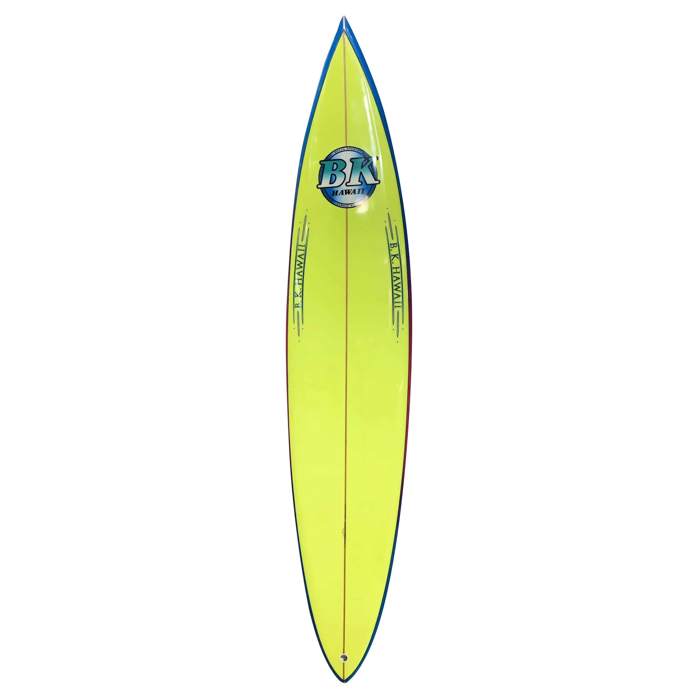 1990s Vintage BK Hawaii Surfboard by Barry Kanaiaupuni