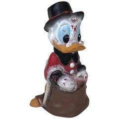 1990s Vintage Disney Uncle Scrooge Plastic Garden Scultpture by Celloplast