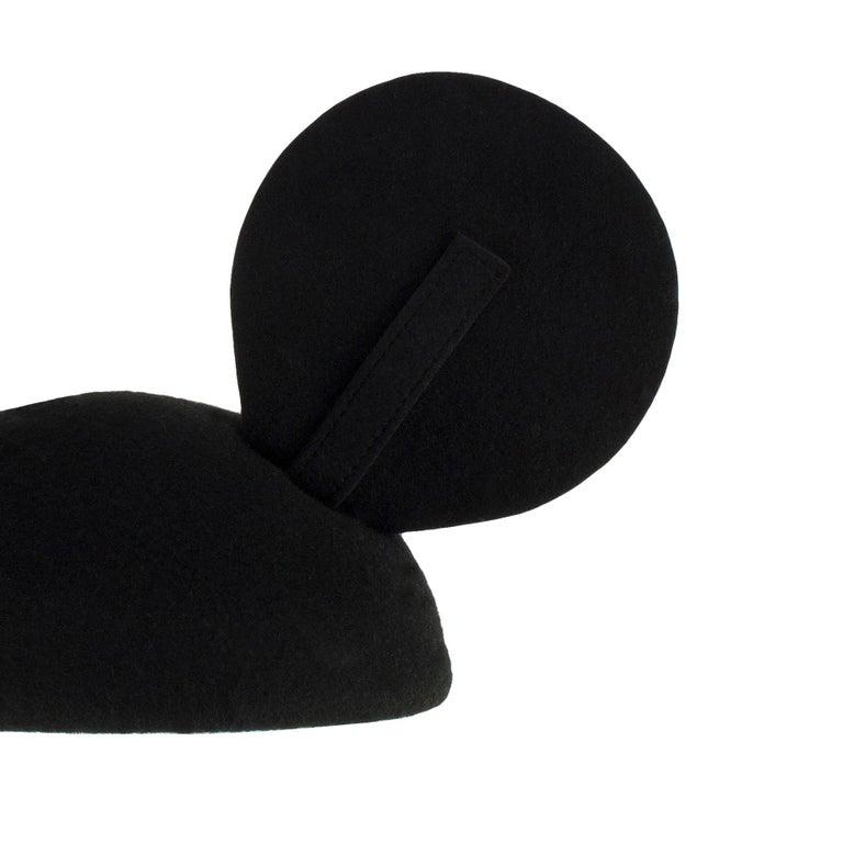 Women's 1990s Vintage Felt Mickey Mouse Hat Adjustable Ear Detail For Sale