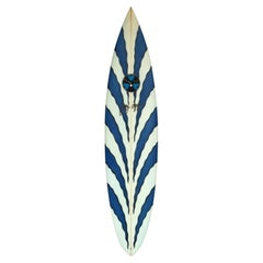 1990s Vintage Gerry Lopez Tiger Stripe Surfboard