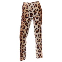 1990s Vintage Gianni Versace Couture Ombre Leopard Animal Print Pants
