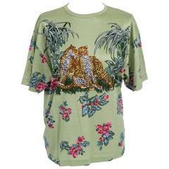 1990's Vintage Hermes Men's Rare Dallet Jungle Love T-Shirt Top Medium
