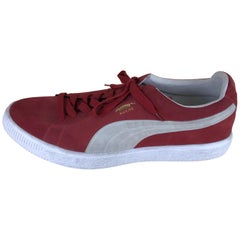 1990s Vintage Very Large Puma Window Display Prop in the Shape of Red Suede Shoe