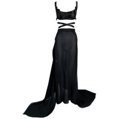 1990's Vivienne Westwood Gold Label Ballet Wrap Bustier Top Skirt Jacket Set